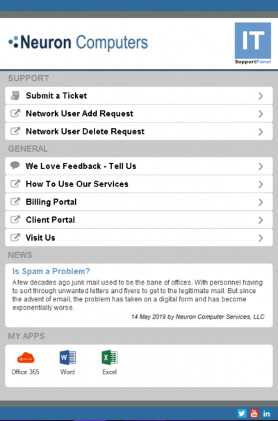 Neuron's IT Support App